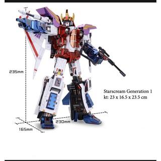 Mô Hình Lắp Ráp 3d Kim Loại transformer Starscream Generation 1(MU)