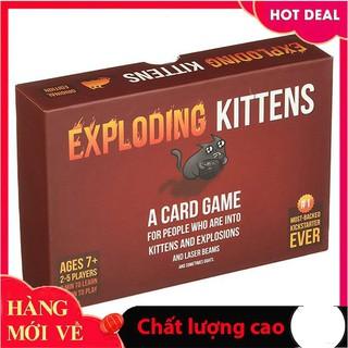 [Giảm giá] Bộ mèo Mèo Nổ cơ bản Exploding Kittens phổ biến