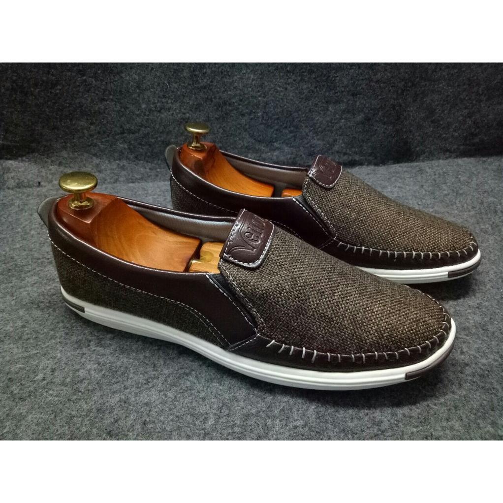 Giày lười nam giày mọi nam 3 màu ĐEN-NÂU-KEM