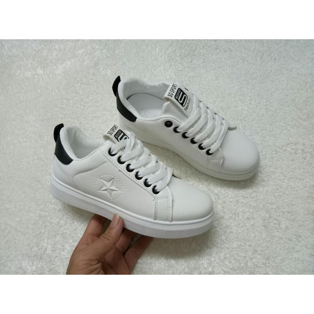Bigsale giày thể thao trắng nữ
