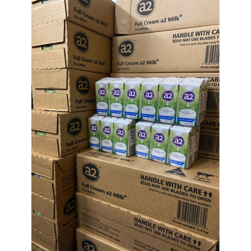 Sữa tươi tiệt trùng A2 nguyên kem dạng nước