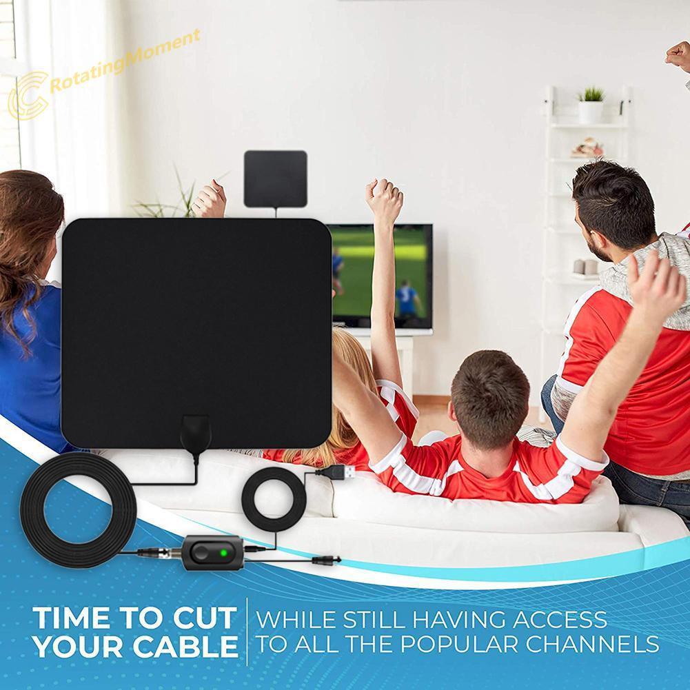 4K 1080p Digital TV Antenna 450 Miles Signal Amplifier Indoor HDTV Aeria