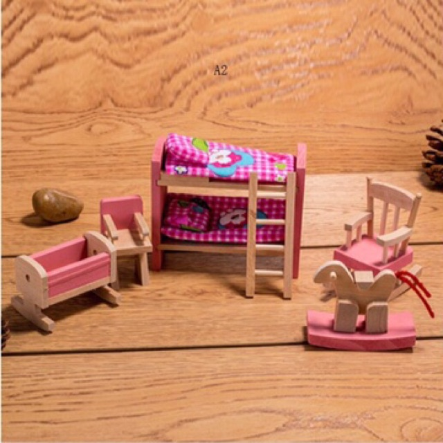 Bộ đồ chơi nôi thất búp bê cho bé
