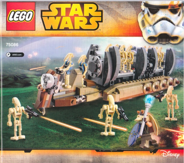 Lego Star Wars 75086 - Battle Droid Troop Carier - Bộ xếp hình Lego Xe chở lính của binh đoàn...
