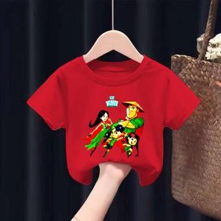 HOT – Áo thun cho bé in hình gia đình kun – Áo sữa kun trẻ em màu đỏ