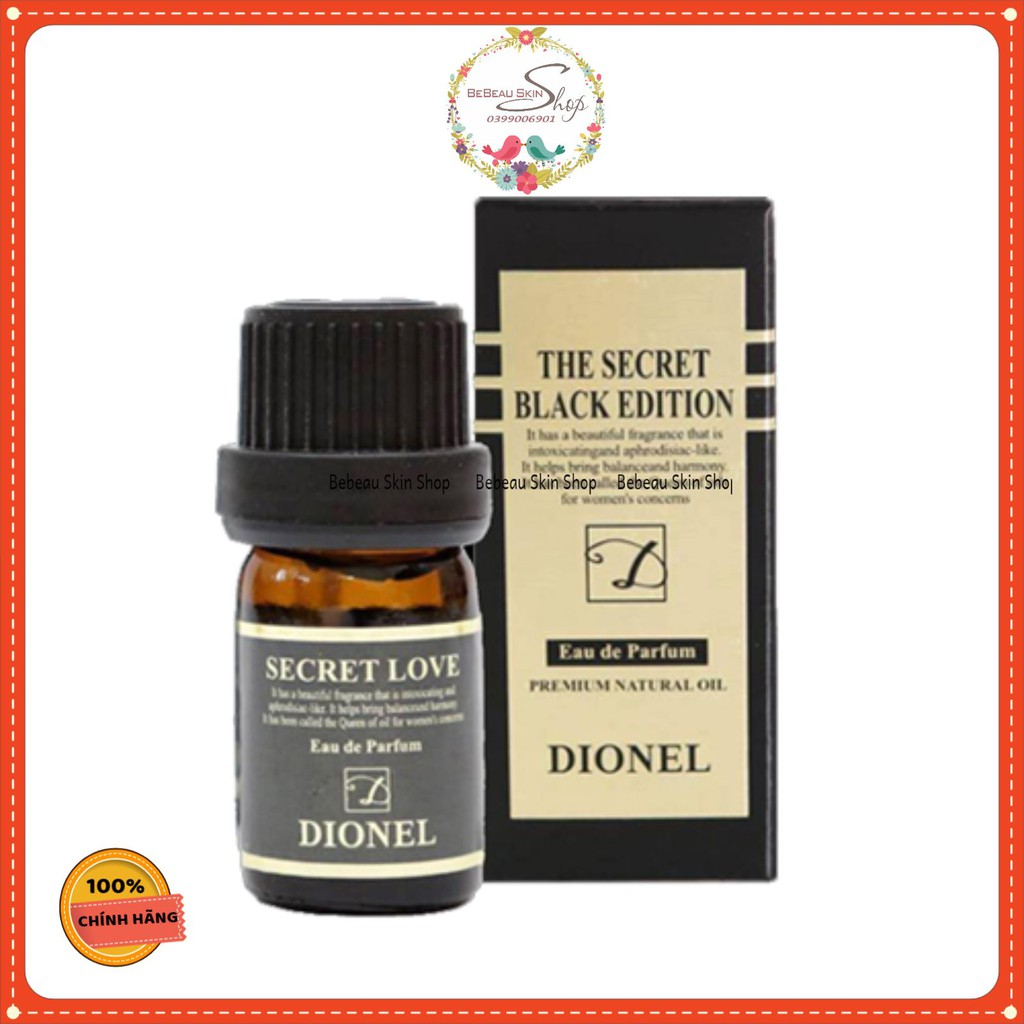 Dionel Secret Love  - Nước hoa vùng kín Dionel Black Edition ( Che tên)