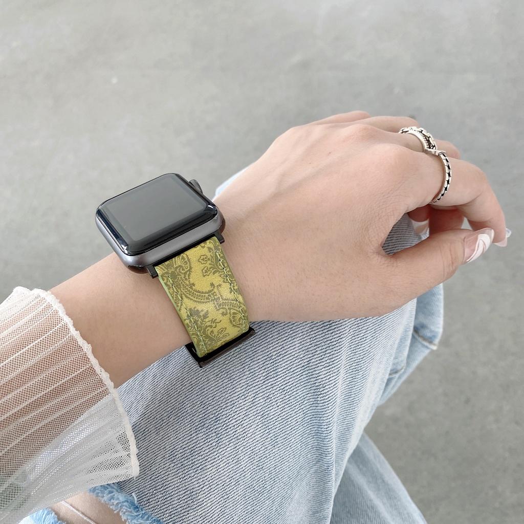 Dây Đeo Bằng Da Cho Đồng Hồ Thông Minh Apple Watch Se / 6 / 5 / 4 / 3...