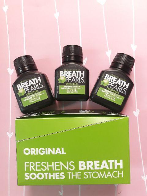 (Đủ bill) Viên uống thơm miệng Breath pearls