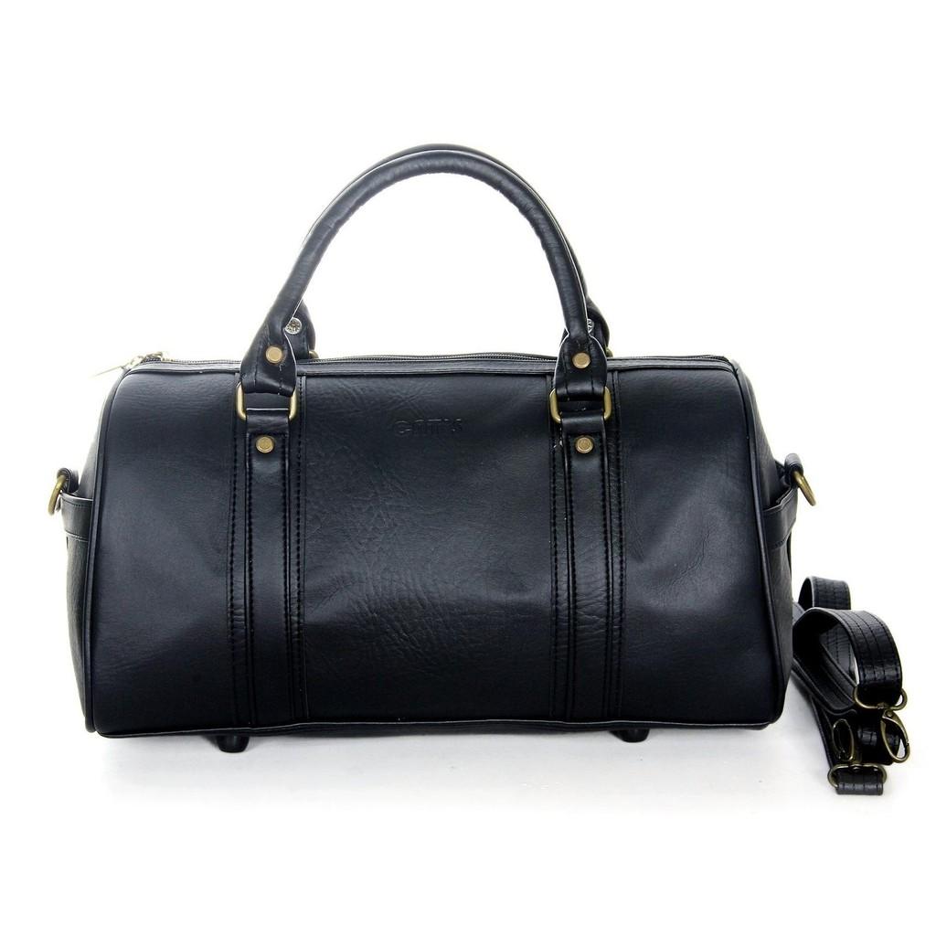 Túi trống du lịch CNT unisex TX21 đen cỡ trung sành điệu