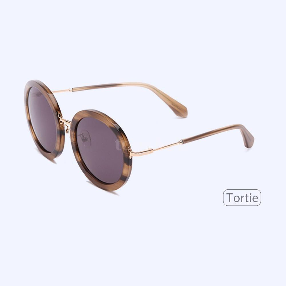 Tsm TS Luxury Brand Vintage Optical Sun Glass Women Round Eye Nylon Sunglasses Fashion Retro Shiny Frame Shades Ladies E