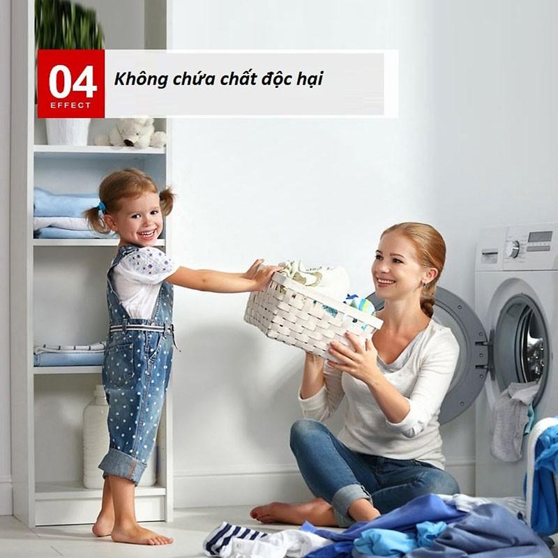 Hộp 12 viên sủi tẩy vệ sinh lồng máy giặt