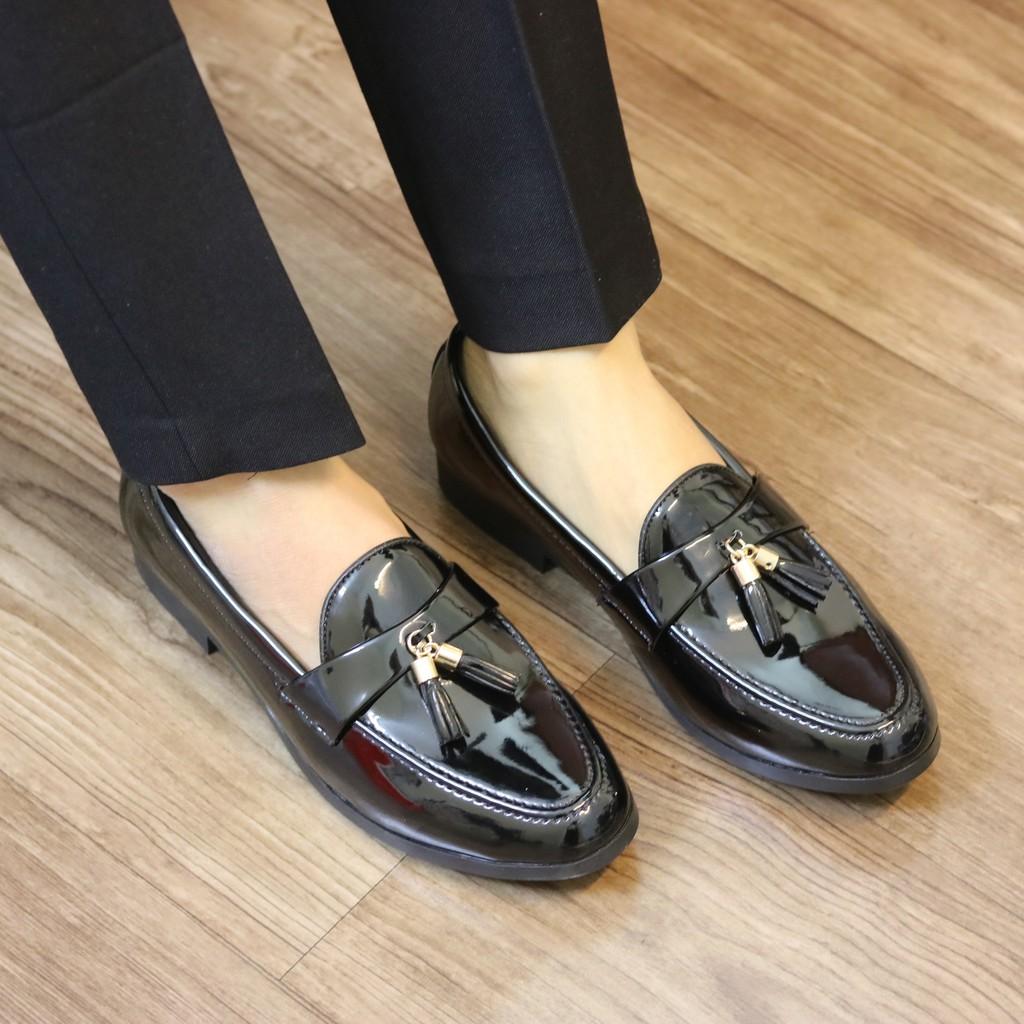 Giày da nam chuông da bóng