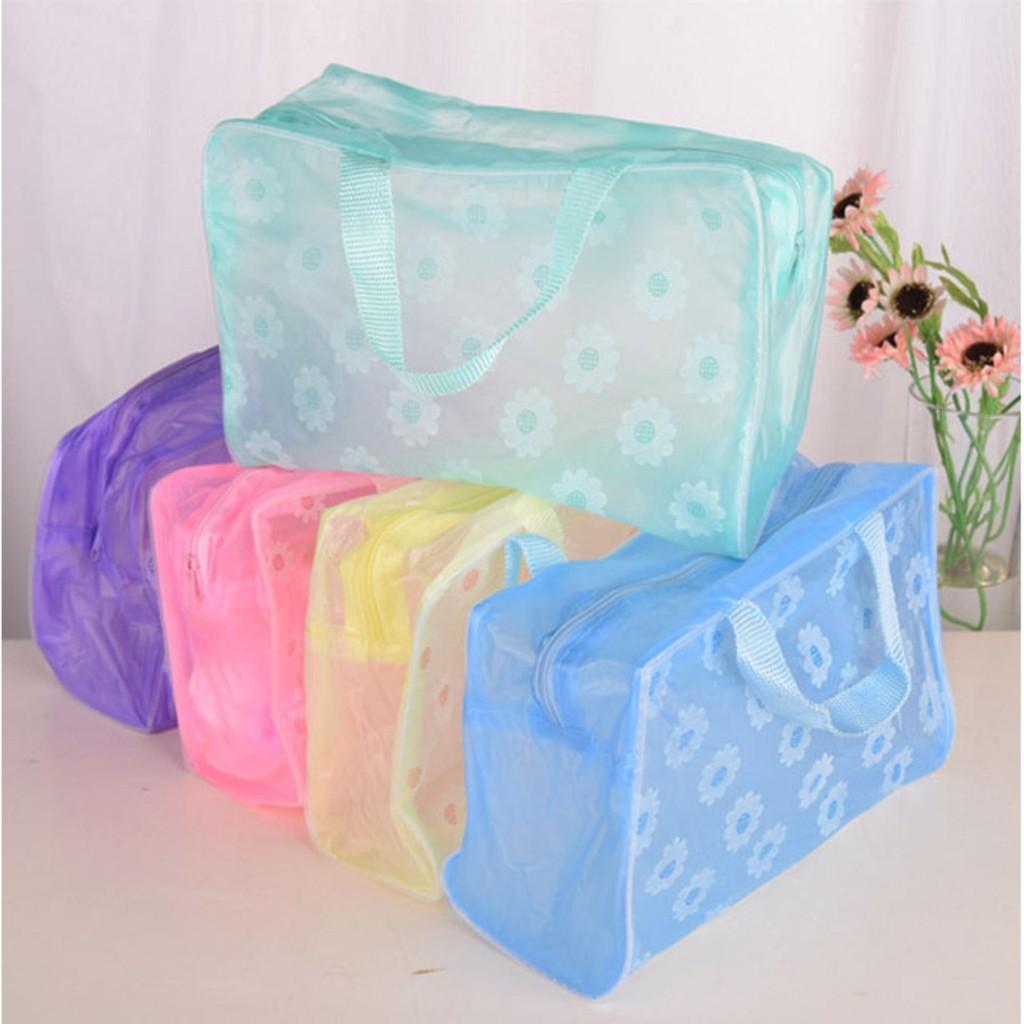 Túi đựng mỹ phẩm hoa văn chống nước