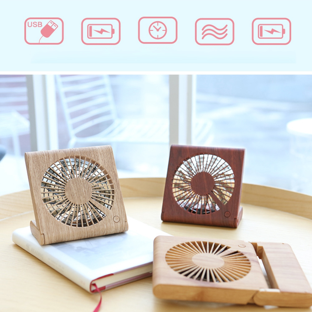 Silent Portable USB Charging Mini Fan Cooling Student Decorative Leaf