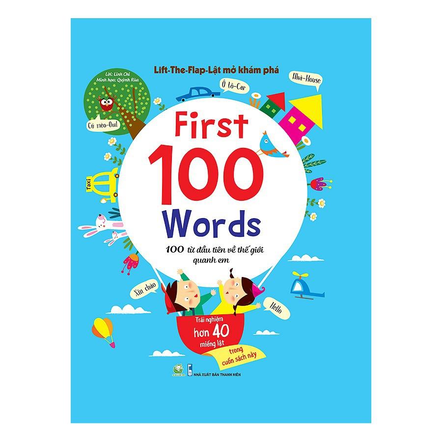 Sách - 100 Từ Đầu Tiên Về Thế Giới Quanh Em (Lât mở)