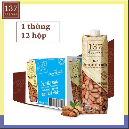 [FREESHIP 99K TOÀN QUỐC] Sữa hạnh nhân 137 degrees không đường 1l date tháng 06/2020.