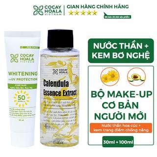 Bộ đôi cấp ẩm sâu & chống nắng bảo vệ da Cocayhoala ( Nước thần hoa cúc Calendula 100ml & kem chống nắng bơ nghệ 30ml)