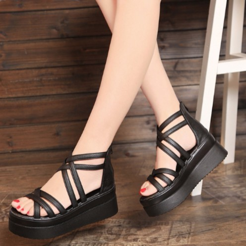 S011D - Giày sandal nữ phong cách Hàn Quốc