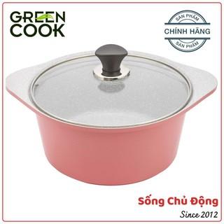 Nồi chống dính vân đá, nồi bếp từ Green Cook GCS02, nồi đúc ceramic chống dính bao trầy xước thumbnail