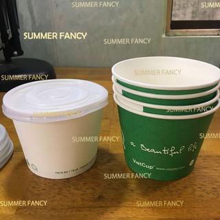 cốc giấy 12oz 360ml bát giấy đựng canh cơm ly giấy đựng kem có nắp sốt có nắp A12 350ml - Paper cup Hộp giấy thumbnail