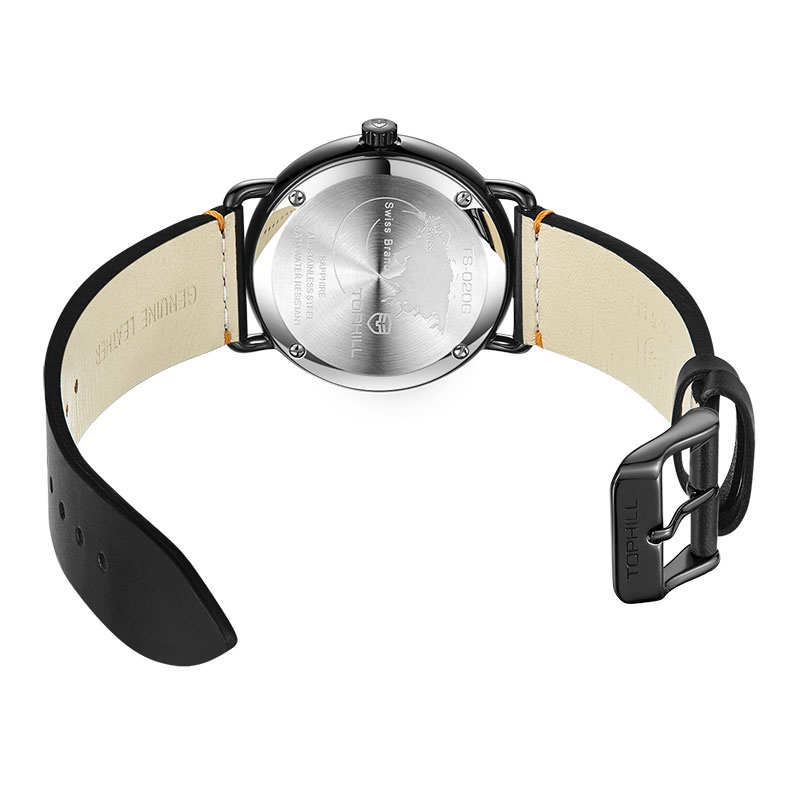 Đồng hồ nam chính hãng TOPHILL TS020G.PB5152 - Dây da - kính Saphire