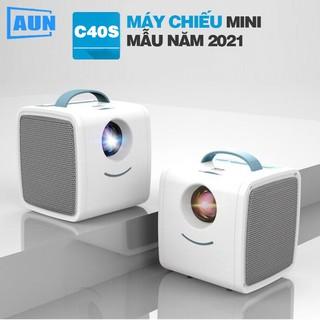 [BẢN 2021 MỚI NHẤT Máy chiếu mini AUN C40s hỗ trợ fullhd 1080p và kết nối với điện thoại, laptop, máy tính