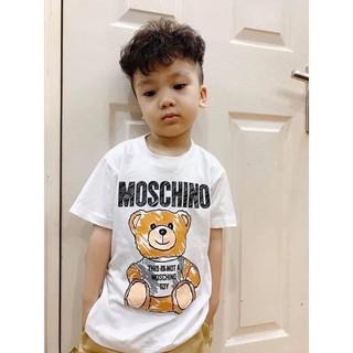 Set áo gia đình moschino màu trắng hình gấu siêu cute AD34 _Mẹ Đậu Shop [kèm ảnh thật] new