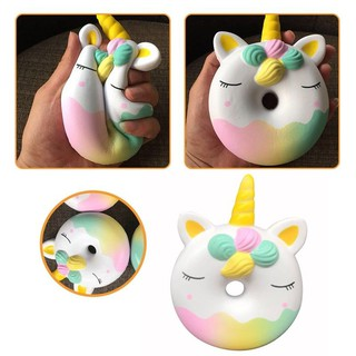 Lovely Slow Rising Doughnut Unicorn Squishy Squeezable Stress Reducer Toys 1pc