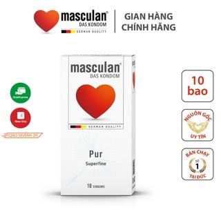 Bao cao su siêu mỏng Masculan Pur Superfine - Chân thật an toàn - Có nhiều gel bôi trơn - Hương thơm dịu nhẹ - Hộp 10 thumbnail