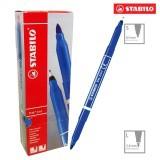 Hộp 10 cây bút lông STABILO Trio 2 in 1 (màu xanh dương)