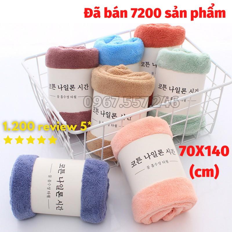 Khăn tắm lông cừu hàn quốc cao cấp 70x140 cm chất bông siêu mềm mịn thấm nước cực nhanh dùng cho khách sạn bé sơ sinh