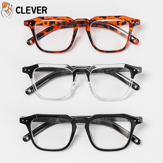 CLEVER Unisex Optical Eyewear Square Frame Vision Care Myopia Glasses Office Computer Goggles Fashion Classic Vintage Eyeglasses/Multicolor