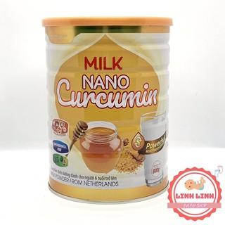 Sữa nghệ Milk Nano Curcumin HALANMILK 400gr-900gr [Chính Hãng]- Hỗ trợ điều trị bệnh đau dạ dày, đại tràng
