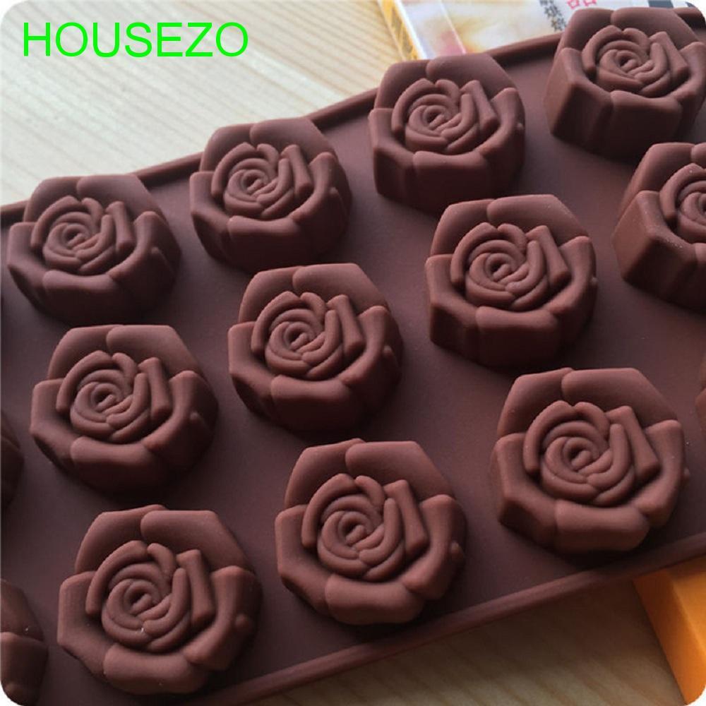Khuôn làm chocolate hình hoa hồng