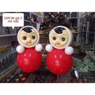 Lật đật nhựa Bé gái 2 nhắm mở mắt Nga