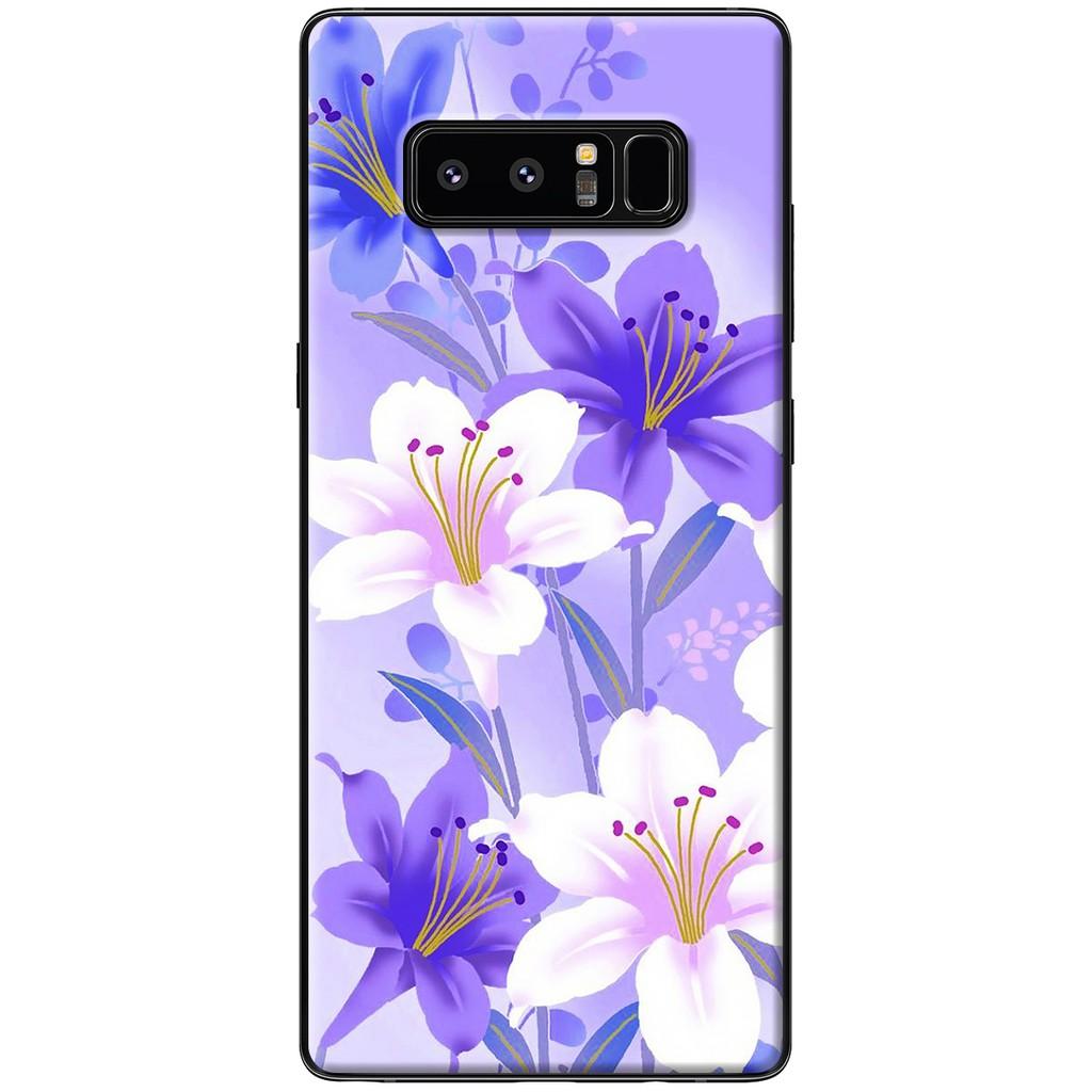 Ốp lưng Samsung Note 8 - Nhựa dẻo Hoa tím