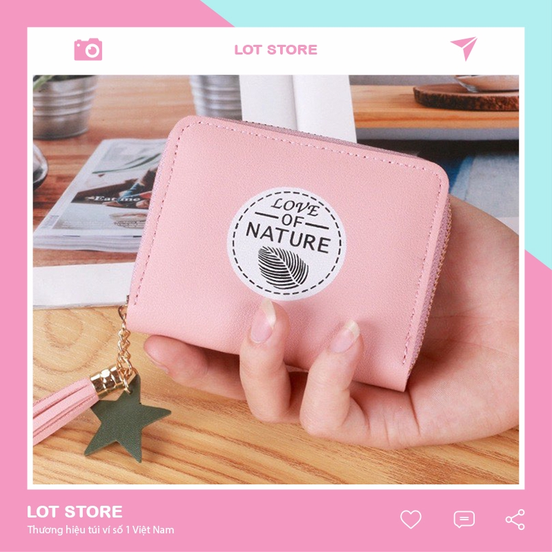 Ví nữ gấp 3 ngắn cầm tay mini cute dễ thương nhỏ gọn bỏ túi thời trang giá rẻ VD111