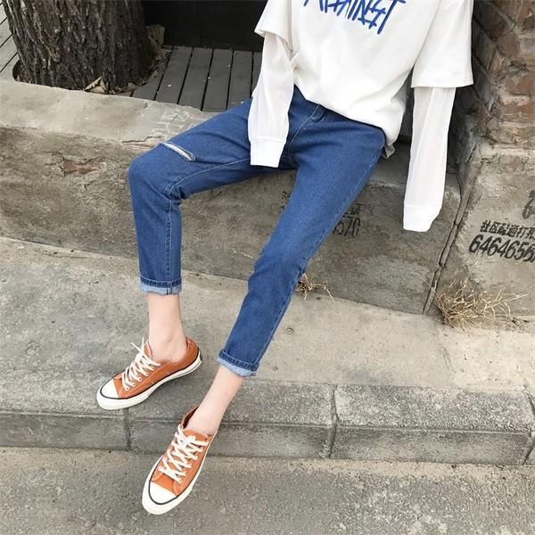Hàng order 5-8n quần jeans rách gối 2 màu
