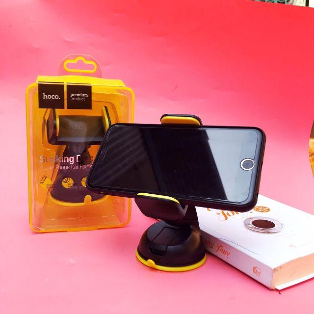 Giá kẹp điện thoại HÍT Ô TÔ CA5 HOCO có thể xoay 360°, tháo lắp linh hoạt