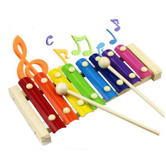 Đồ Chơi Gỗ Benrikids Đàn Khung Gỗ 8 Thanh Xylophone Cho Bé Làm Quen Với Âm N
