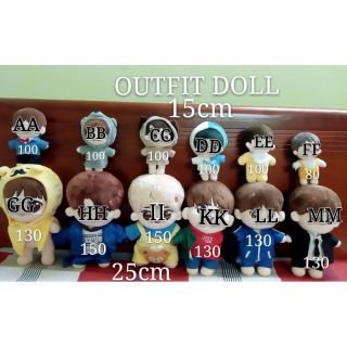 OUTFIT DOLL 15 & 25CM
