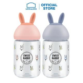 Bình nước hình tai thỏ Lock&Lock cute bottle 380ML ABF652 (2 màu) thumbnail