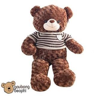 Gấu Bông Teddy Bear Mặc Áo Len Khổng Lồ – Khổ Vải 80cm – Vải Nhung Siêu Mịn – Quà Tặng Valentine 14/2 Cho Nàng