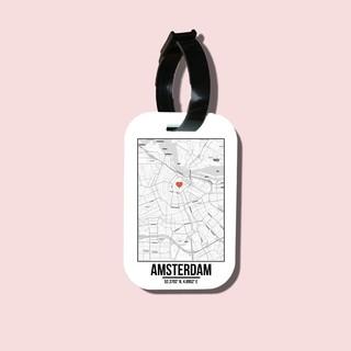 Travel tag cho túi xách balo du lịch in hình Love City - Amsterdam thumbnail