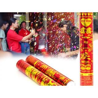 Ống pháo hoa đăng giấy kim tuyến cho niềm vui rộn rã ngày tết