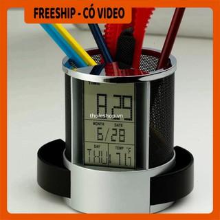 Hộp bút  BH 1 THÁNG   Hộp đựng bút có đồng hồ tiện lợi, có chức năng hẹn giờ, chế độ nhắc nhở tiện lợi, âm thanh lớn