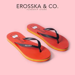 Dép kẹp xỏ ngón đi biển in hoa văn dễ thương Erosska - DK013