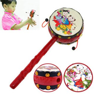 Baby Kids Child Plastic Rattle Drum Instrument Child Musical Toy Chinese Styles