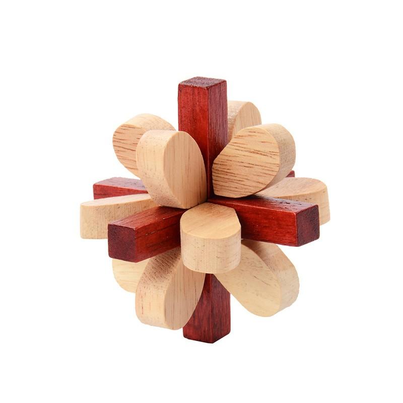 Đồ chơi gỗ - Đồ chơi trí tuệ - Khóa Khổng Minh mẫu D1