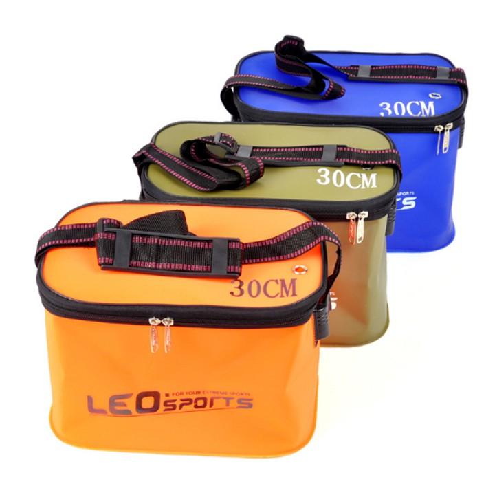 Thùng Nhựa Đựng Cá Có Dây Đi Câu LEO Sports
